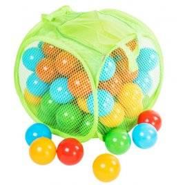 Шарики для сухого бассейна в сумке 80 штук матовые на змейке 467 в.5 Орион