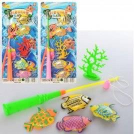Рыбалка на магнитах с удочкой на планшете пластмассовая 468-568