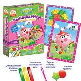 Набор для творчества Вышивка лентами Вышиварики 4701-05-06 Vladi Toys