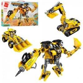 Конструктор трансформер робот+стройтехника 3в1 509 деталей 4805 Qman