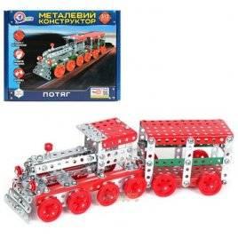 Конструктор металлический Поезд 312 деталей 4814 ТехноК