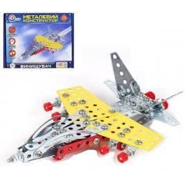 Конструктор металлический Истребитель  176 деталей 4937 ТехноК