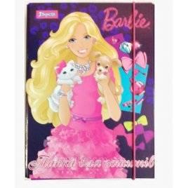 Папка картонная для тетрадей Barbie на резинке 500194 1 вересня