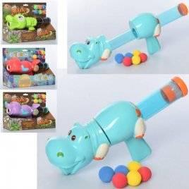Автомат помповый животное+ пули-шарики 5006BD-5007CD