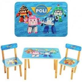 Детский стол и стулья Робокар Поли 501-12