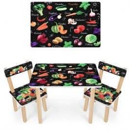 Детский стол и 2 стула Овощи 501-112