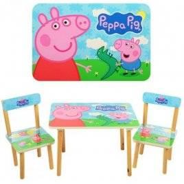 Детский стол и стулья Свинка Пеппа 501-13