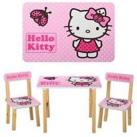 Детский стол и 2 стула Hello Kitty 501-16 Vivast, Украина