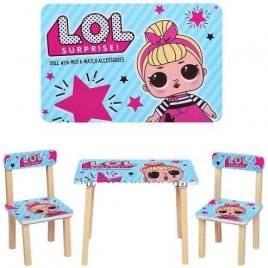 Детский стол и 2 стула ЛОЛ LOL 501-24