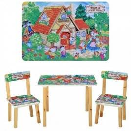 Детский стол и 2 стула Волк и семеро козлят 501-34 Vivast, Украина