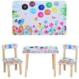 Детский стол и 2 стула Краски 501-38 Украина