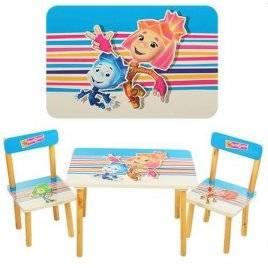 Детский стол и стулья Фиксики 501-4