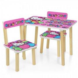 Детский стол и 2 стула Hello Kitty 501-49 розово-голубой