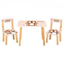 Детский стол и 2 стула Тигренок 501-59