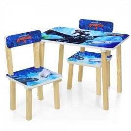 Детский стол и 2 стула как приручить дракона 501-67