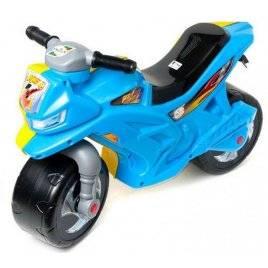 Мотоцикл синий с желтым беговел  501 Орион