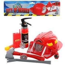 Набор пожарника с каской и огнетушителем 5022