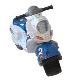 Мотоцикл толокар для детей Скутер бело-синий Орион 502