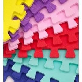 Коврик пазл мягкий разноцветный 10 пазлов Веселка 50-50-1 см ЕВА