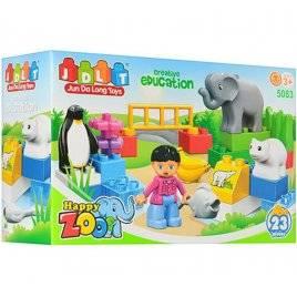 Конструктор Зоопарк 23 детали+ животные 4 штуки JDLT 5083