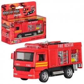 Машинка инерционная пожарная металлическая KS 5110 W KINSMART
