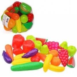Набор пластиковых фруктов и овощей 24 шт. малые 518 Орион, Украина