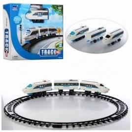 Железная дорога белая с рельсами и светом 3 вида  QS523A