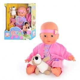 """Уценка! Кукла """"Саша"""" говорит и поет, шевеля губами с мишкой 5242 Joy Toy"""