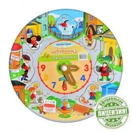 Деревянная игрушка Часы круглые Простоквашино Чебурашка GT5304 Союзмультфильм
