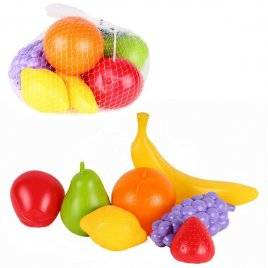 Набор пластиковых фруктов в сетке 7 штук 5309