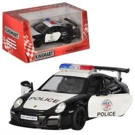 Машинка KINSMART Полиция 1:36 PORSCHE 911 KT 5352 W инерционная
