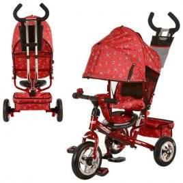 Велосипед детский колеса надувные резиновые с ручкой М 5361-5 Turbo