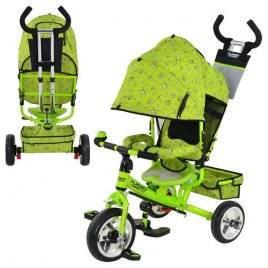 Велосипед с родительской ручкой 5363-2-1 Turbo зеленый