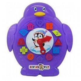 Часы-сортёр игрушка развивающая Пингвин KW-40-002 Kinderway