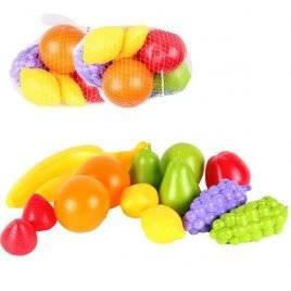 Набор пластиковых фруктов в сетке 14 штук 5521