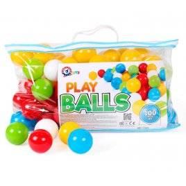 Набор шариков 100 штук  для сухих бассейнов в сумке 5545 ТехноК