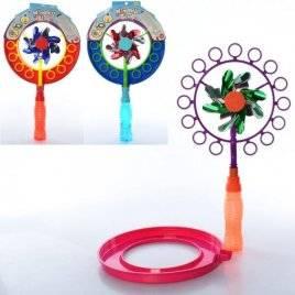 Мыльная игра ветрячок с  ручкой-запаской 5555V