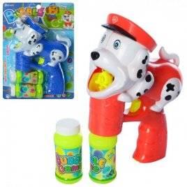 Мыльные пузыри  пистолет-собачка с музыкой и светом+2 запаски 5555