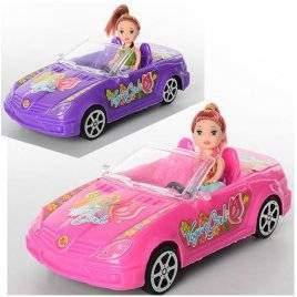 Мини кукла с машинкой 5577