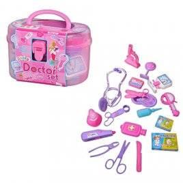 Детский набор доктора Аптечка в чемоданчике 5608 розовый