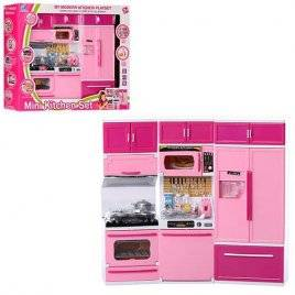 Мебель для куклы розовая Кухня со звуком и светом 5626