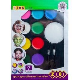 Краски для грима лица и тела Креатив 9 цветов ZB 6570 ZiBi