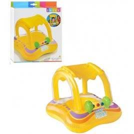 Детский надувной плотик с навесом 2 в 1 на липучке 56581 Хит продаж!