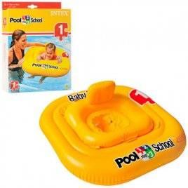 Детский надувной плотик желтый 56587 Intex