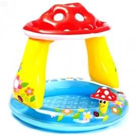 Бассейн с навесом детский надувной Под грибком 57114 Intex