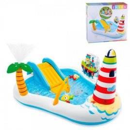 Игровой центр Рыбалка бассейн горка фонтан 57162 Intex