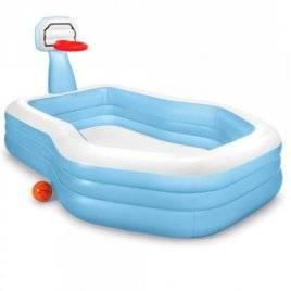 Бассейн детский надувной с баскетбольным кольцом 57183 Intex