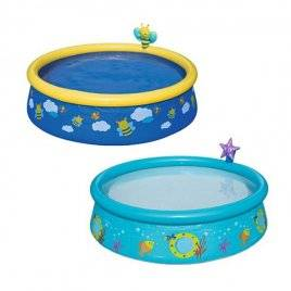 Бассейн детский надувной круглый рыбки или пчелки 57326 Bestway