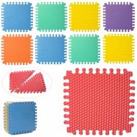 Коврик мат напольный Теплый пол мягкий вспененный текстурный Треугольники M 5735