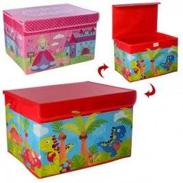 Ящик для игрушек крышка на застежке липучке M 5748